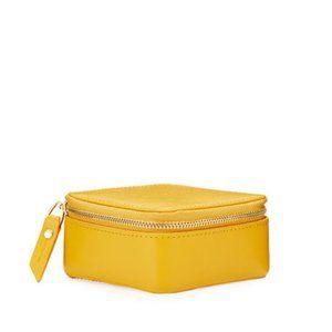 Neiman Marcus saffiano leather jewelry case Amber